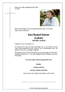 Karl Rudolf Kehrer (Lukas)