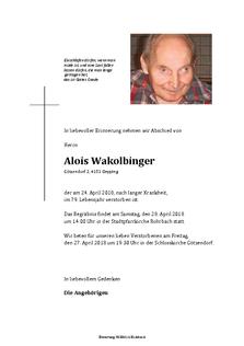 Alois Wakolbinger
