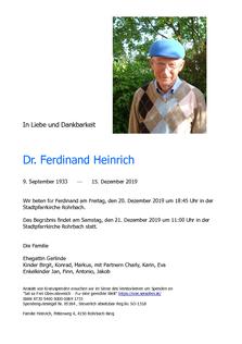 Dr. Ferdinand Heinrich