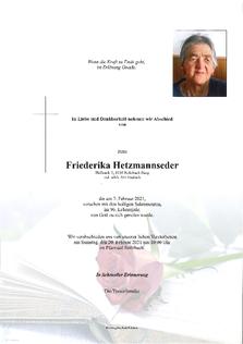Friederika Hetzmannseder