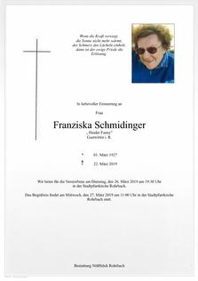 Franziska Schmidinger