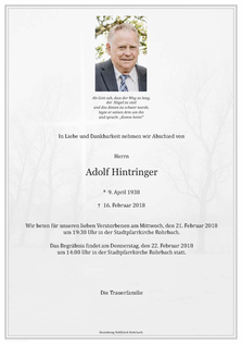 Adolf Hintringer