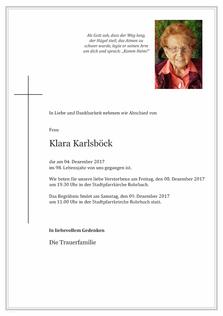 Klara Karlsböck