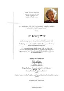 Dr. Emma Wolf