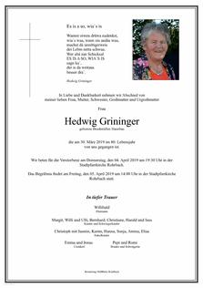 Hedwig Grininger
