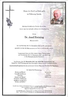 Dr. Josef Preining
