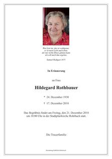 Hildegard Rothbauer